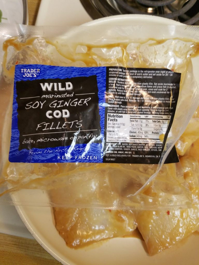Wild Cod with Soy Ginger Marinate
