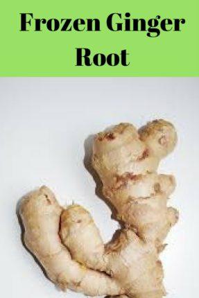 Frozen Ginger Root